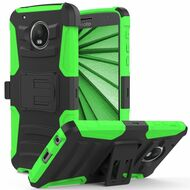 Advanced Armor Hybrid Kickstand Case with Holster for Motorola Moto G5 Plus - Black Green