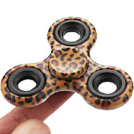 Original Design Fidget Finger Spinner Hand Spinning Toy - Leopard Brown