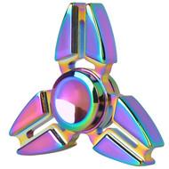Crab Claws Titanium Alloy Fidget Finger Spinner Hand Spinning Toy - Rainbow