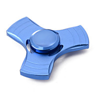 Tri-Bar Center Cap Aluminum Metal Fidget Finger Spinner Hand Spinning Toy - Blue