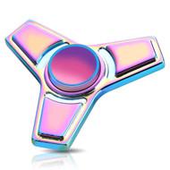 *Sale* Trapezoid Titanium Alloy Fidget Finger Spinner Hand Spinning Toy - Rainbow