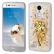 *Sale* Krystal Gel Series Flakes Transparent TPU Case for LG Aristo / Fortune / K8 (2017) / Phoenix 3 - 3D Rose