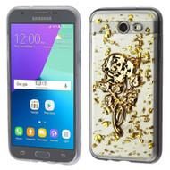Krystal Gel Transparent Case for Samsung Galaxy J3 (2017) / J3 Emerge / J3 Prime / Amp Prime 2 / Sol 2 - 3D Rose