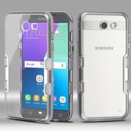 TUFF Panoview Hybrid Case for Samsung Galaxy J3 (2017) / J3 Emerge / J3 Prime / Amp Prime 2 / Sol 2 - Silver