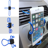 Universal Cross-Shaped Flexible DIY Smartphone Holder Mount - Blue