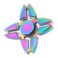 *SALE* Quad Crab Claws Titanium Alloy Fidget Finger Spinner Hand Spinning Toy - Rainbow