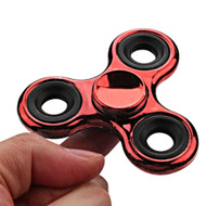*Sale* Chrome Plated Fidget Finger Spinner Hand Spinning Toy - Red