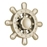 Ship Wheel Aluminum Alloy Fidget Finger Spinner Hand Spinning Toy - Gold