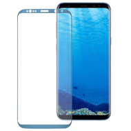 *SALE* HD Full Curved Coverage Premium 3D Tempered Glass Screen Protector for Samsung Galaxy S8 - Coral Blue
