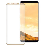 *SALE* HD Full Curved Coverage Premium 3D Tempered Glass Screen Protector for Samsung Galaxy S8 - Gold