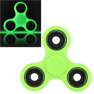 Luminous Glow In The Dark Fidget Finger Spinner Hand Spinning Toy - Green