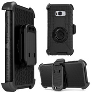Anti-Shock Hybrid Case with Holster for Samsung Galaxy S8 - Black