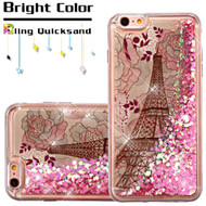 Quicksand Glitter Transparent Case for iPhone 6 Plus / 6S Plus - Eiffel Tower