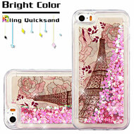Quicksand Glitter Transparent Case for iPhone SE / 5S / 5 - Eiffel Tower