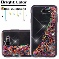 Quicksand Glitter Transparent Case for Samsung Galaxy J7 (2017) / J7 V / J7 Perx - Magenta