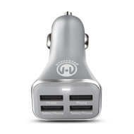 HyperGear High Power Quad USB 6.8A Car Charger - Silver