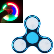 LED Light Chrome Plated Fidget Finger Spinner Hand Spinning Toy - Blue