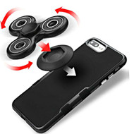 *Sale* Fidget Finger Spinner Hand Spinning Toy with Adhesive Mounting Clip - Black