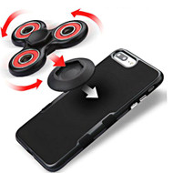 *Sale* Fidget Finger Spinner Hand Spinning Toy with Adhesive Mounting Clip - Black Red