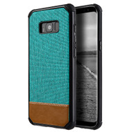 Tough Anti-Shock Hybrid Case with Canvas Backing for Samsung Galaxy S8 Plus - Teal