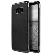 Saffiano Luxury Fusion Case for Samsung Galaxy S8 Plus - Black