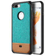*Sale* Tough Anti-Shock Hybrid Case with Canvas Backing for iPhone 7 Plus - Teal