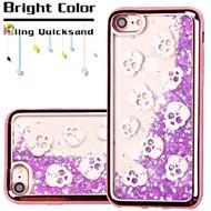 *Sale* Electroplating Quicksand Glitter Transparent Case for iPhone 7 - Skulls Rose Gold