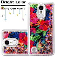 *SALE* Quicksand Glitter Transparent Case for LG Aristo / Fortune / K8 2017 / Phoenix 3 - Hibiscus