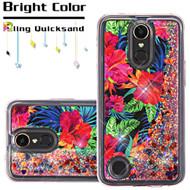 *SALE* Quicksand Glitter Transparent Case for LG K20 Plus / K20 V / K10 (2017) / Harmony - Hibiscus