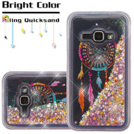 *SALE* Quicksand Glitter Transparent Case for Samsung Galaxy Amp 2 / Express 3 / J1 (2016) - Dreamcatcher