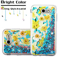 Quicksand Glitter Case for Samsung Galaxy J3 (2017) / J3 Emerge / J3 Prime / Amp Prime 2 - Spring Daffodils