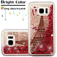 Quicksand Glitter Transparent Case for Samsung Galaxy S7 Edge - Eiffel Tower