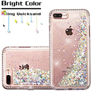 Diamond Quicksand Glitter Transparent Case for iPhone 8 Plus / 7 Plus - Silver