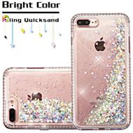 Diamond Quicksand Glitter Transparent Case for iPhone 7 Plus - Silver
