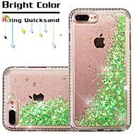 *Sale* Diamond Quicksand Glitter Transparent Case for iPhone 7 Plus - Green