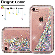 Diamond Quicksand Glitter Transparent Case for iPhone 8 / 7 - Silver