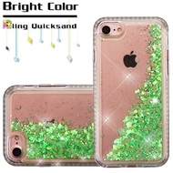 *Sale* Diamond Quicksand Glitter Transparent Case for iPhone 8 / 7 - Green