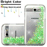 Diamond Quicksand Glitter Case for Samsung Galaxy J3 (2017) / J3 Emerge / J3 Prime / Amp Prime 2 / Sol 2 - Green