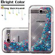 *SALE* Diamond Quicksand Glitter Case for Samsung Galaxy J3 (2017) / J3 Emerge / J3 Prime / Amp Prime 2 / Sol 2 - Blue