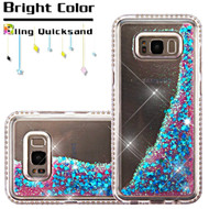 Diamond Quicksand Glitter Transparent Case for Samsung Galaxy S8 - Blue