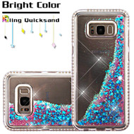 Diamond Quicksand Glitter Transparent Case for Samsung Galaxy S8 Plus - Blue