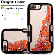 *SALE* TUFF Quicksand Glitter Hybrid Armor Case for iPhone 8 Plus / 7 Plus / 6S Plus / 6 Plus - Black Red