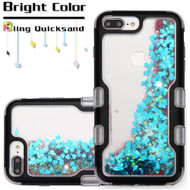 TUFF Quicksand Glitter Hybrid Armor Case for iPhone 8 Plus / 7 Plus / 6S Plus / 6 Plus - Black Blue