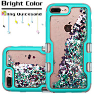 TUFF Quicksand Glitter Hybrid Armor Case for iPhone 8 Plus / 7 Plus / 6S Plus / 6 Plus - Teal Green