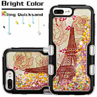 TUFF Quicksand Glitter Hybrid Armor Case for iPhone 8 Plus / 7 Plus / 6S Plus / 6 Plus - Eiffel Tower