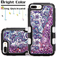 TUFF Quicksand Glitter Hybrid Armor Case for iPhone 8 Plus / 7 Plus / 6S Plus / 6 Plus - Persian Paisley