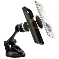 Car Windshield Dashboard Mount with Magnetic Phone Holder - Black