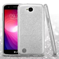 Full Glitter Hybrid Protective Case for LG X Power 2 / Fiesta - Silver