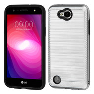 *Sale* Brushed Multi-Layer Hybrid Armor Case for LG X Power 2 / Fiesta - Silver