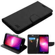 Diary Leather Wallet Case for LG X Power 2 / Fiesta - Black